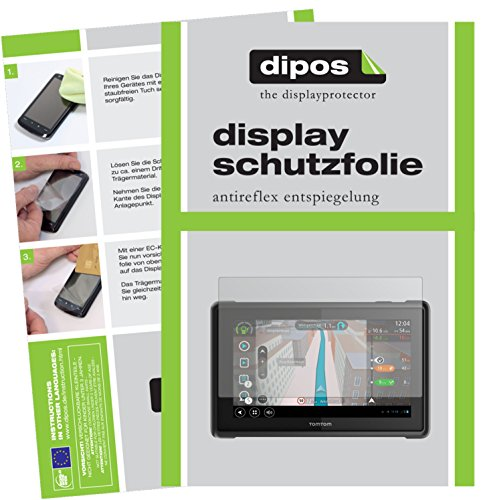 dipos I 3X Schutzfolie matt passend für Tomtom Pro 8275 Truck Folie Displayschutzfolie