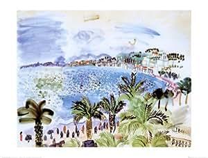 Reproduction d'art 'La Promenade Des Anglais', de Raoul Dufy, Taille: 80 x 60 cm