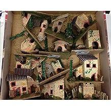 Casitas de decoración de Navidad para Belén, varios adornos, de 6 x 5 x