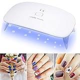 KEJEA 24W Mini LED UV Nagellampe Nageltrockner Tragbar UV-Nagellampe Lichthärtegerät Lichthärtungsgerät für Fingernagel und Zehennagelgel basierte Poliermittel(Weiß)