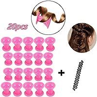 Locisne 20pcs Silicone ninguna herramienta francesa de la trenzar del pelo de los bigudíes de pelo