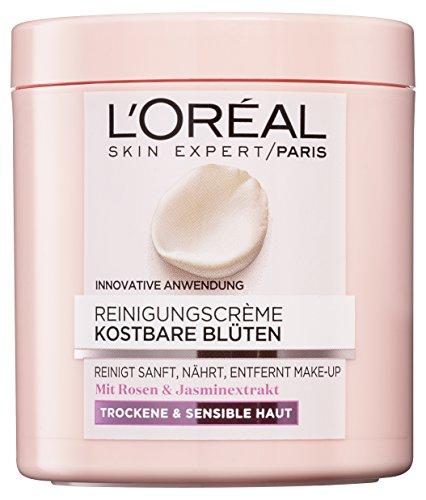 L'Oreal Paris Kostbare Blüten Reinigungscreme, mit Rosen- und Jasminextrakt, beseitigt Unreinheiten und pflegt die Haut, 2er Pack (2 x 200 ml)