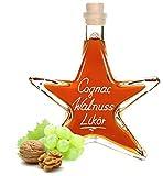 Cognac Walnuss Likör Stern Flasche 0,2 L 54,75EUR/L samtweich & sehr aromatisch 28% Vol