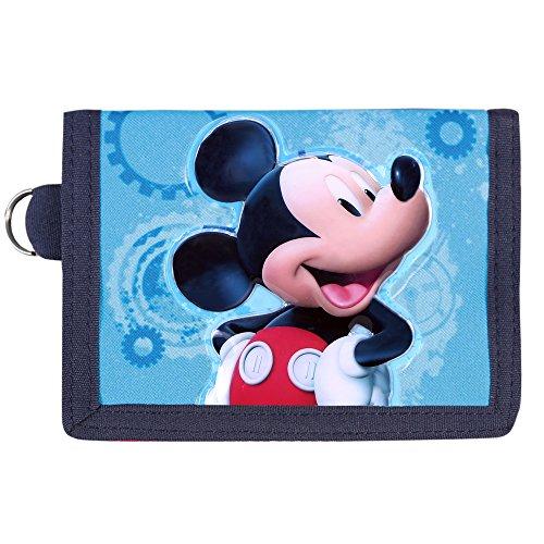 �r Jungen Disney Micky Mouse - Portemonnaie mit Motiven aus Mickey Maus - Roten und Blauen Brieftaschen mit Schlüsselanhänger - Micky Maus Wunderhaus - Perletti - 10x13.5 cm (Mickey-mouse-mützen Mit Ohren)