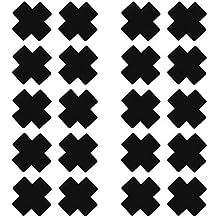 1Paar Pentagram Nippelabdeckung Pailletten Schwarz Brustaufkleber Fleck Nippel Aufkleber Stain Abdeckungswegwerfbare Pasteten Freebily 20 Paar Kreuz Nippel Cover