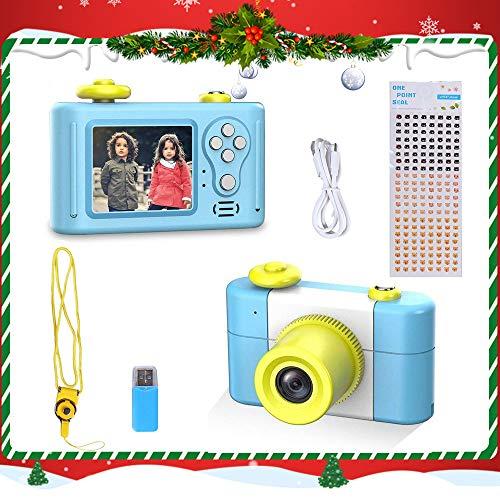 Kinderkamera Digitalkamera für Kinder,1,5-Zoll-Bildschirm HD 1080P mit wiederaufladbarem Spiel Fotorahmen-Mikrofon Mini Kamera Geburtstagsgeschenk für Kinder(Blau)
