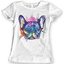 DTG Printing Francés Bulldog Camisetas Acuarela 100% Algodón