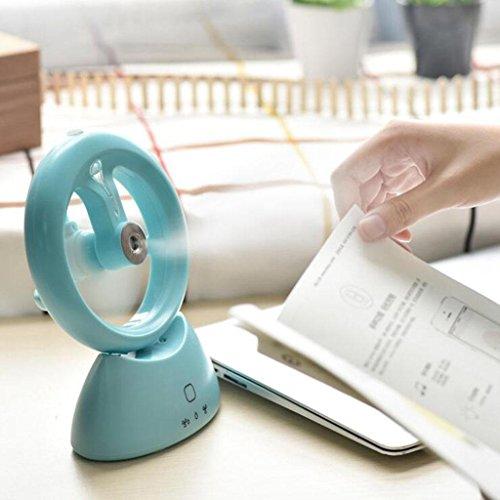 USB recargable mini acondicionador de aire de pulverización pequeño ventilador de refrigeración...