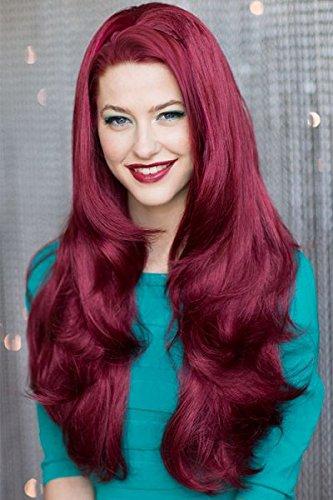 Rot,, gelockt, 3/4oder Halb Perücke Haarteil Verlängerung: Ariel 250g (Ariel Perücke)
