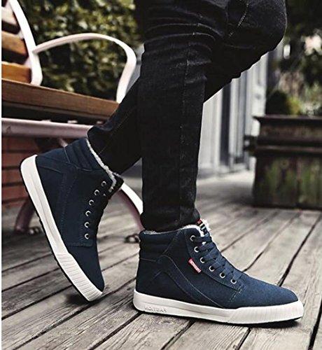 Rdjm Chaussures Homme Baskets En Chaussures De Mode Chaussures En Hiver Homme Hiver Vert Foncé