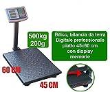 Givimusic Bilancia da Terra BILICO Industriale Digitale Professionale 500KG Display LCD