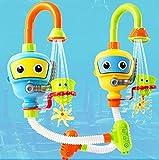 INCHANT Baby Bad-Spielzeug Wasser-Dusche Sprayer Wasserspielzeug Badewanne Brunnen Spielzeug für Kinder Kleinkind Badspielzeug mit Sucker Early Education Interaktive über 3 Jahre älter Toddlers (Blau) - 7