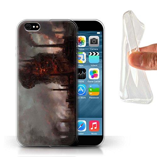 Offiziell Chris Cold Hülle / Gel TPU Case für Apple iPhone 6 / Gift Haupt Muster / Gefallene Erde Kollektion Industrie Maschine