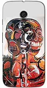 Timpax Protective Hard Back Case Cover Printed Design : Three head image.For Motorola Moto-G-2 ( 2nd Gen )