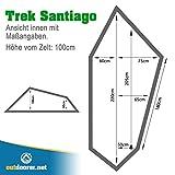 Outdoorer Zelt Trek Santiago, grün, 1,15kg, kleines Packmaß, das Leichtzelt für 1 Person -