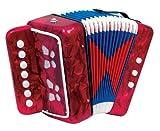 Diatonisches Akkordeon für Kinder 7 Tasten rot