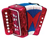 Scarlatti ST214 Mélodéon pour enfants 7 boutons Rouge
