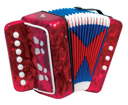 SCARLATTI ACCORDIONS ST214 RED   ACORDEON DE BOTONES (7 TECLAS)  COLOR ROJO