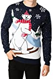 Threadbare Herren Polar NEUHEIT Pullover von Brand Attic - Eisbär marineblau, XL