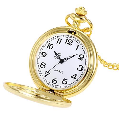 Abstand Armbanduhr FGHYH Männer Krone Unisex Mode Kette Kette Taschenuhr Bronze Uhr Watch Armbanduhr(Gold)