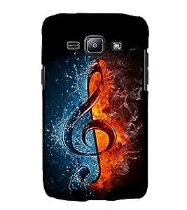 FUSON Treble Clef Fire Water 3D Hard Polycarbonate Designer Back Case Cover for Samsung Galaxy J2 (6) 2016 J210F :: Samsung Galaxy J2 Pro (2016)