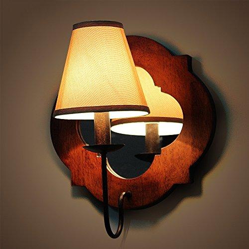 Serie parete industriale Legno antico di legno della lampada da