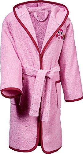 Kinderbutt Bademantel Frottier rosa Größe 86 / 92