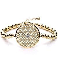 Silvity Damen Blume des Lebens Armband mit Crystals from Swarovski® Kristalle 959001-P-20