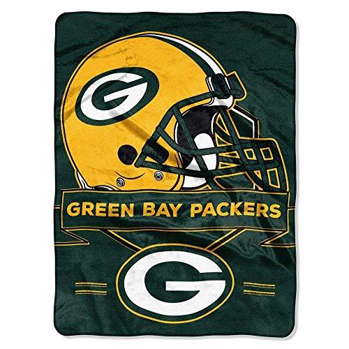 Northwest NFL Prestige Plüsch Raschel Überwurf Decke, Unisex, grün (Nfl Plüsch-fußball)