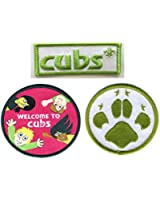 Cub Scout Poncho / Blanket Badges Pack of 3 (includes Paw Print badge)