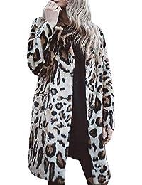 Donna Giacca Invernale Donna Autunno Cappotto Inverno di Gestante Lana  Giacca da Donna Manica Lunga Leopard fb6ddb4c587