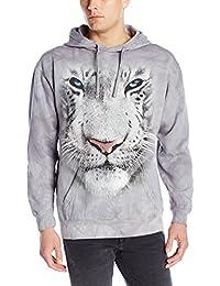 Hoodie White Tiger Face grau | XXL