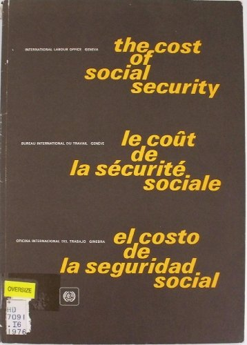 Descargar Libro Cost of Social Security: 8th, 1967-71: International Inquiry de International Labour Office