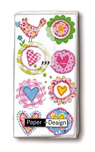 Mouchoir lovely hearts lot de 10
