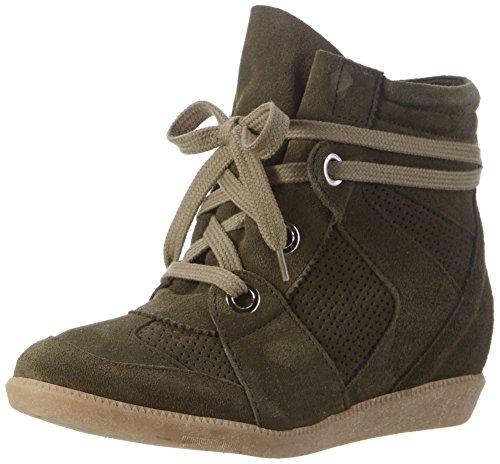 Bronx Damen Bx 1277 Braffx Hohe Sneaker Grün (Khaki)