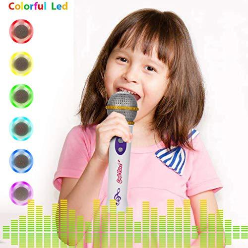 TAOtTAO Helles Musikmikrofonkindermikrofonspielzeug Tragbares Mikrofon Mic Toy Music Bunte Lichter Party Geburtstagsgeschenk für Kinder