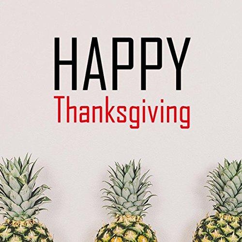 DIYthinker Feiern Sie Thanksgiving Day Segen Festival-Feiertag Gala Feier Wörter entfernbarer Wand-Aufkleber-Kunst-Abziehbilder Wand-DIY Tapete für Zimmer Aufkleber 70cm