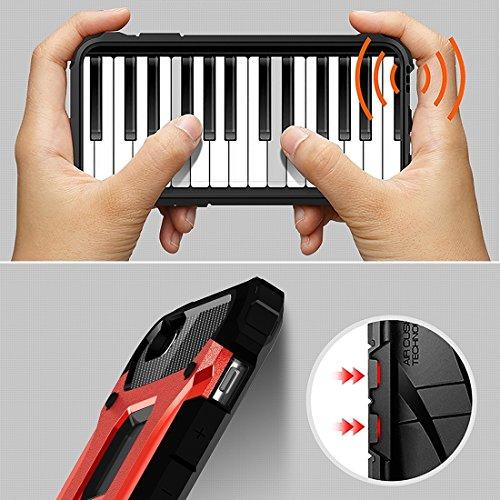 BING Für iPhone 6 Plus / 6s Plus, Tough Armor TPU + PC Kombi-Gehäuse BING ( Color : Grey ) Red