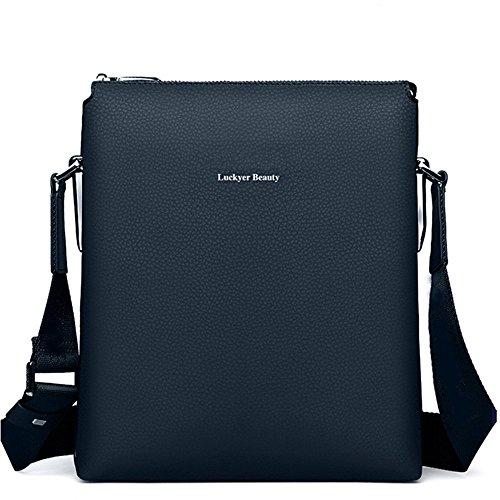 Luckyer Beauty Borse Messenger da uomo,Borse a tracolla per affari Borse a mano da uomo caso tablet Classico Blu Blu