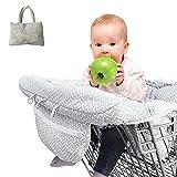 Waroomss Einkaufswagenschutz, Universal Fit Ultra Plüsch 100% Baumwolle Oberen Volle Sicherheitsgurt Maschine Waschbar für Baby Kleinkind