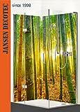 Eck - Duschrückwand, 2 Segmente je 90x200cm, Motiv: Bambuswald - KOSTENLOSER Zuschnitt auf Ihr Wunschformat !