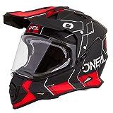 O'Neal Sierra II Comb Motocross Motorrad Helm MX Enduro Trail Quad Cross Offroad Gelände, 0817, Farbe Schwarz Rot, Größe L