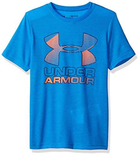 Under Armour Jungen Big Logo Hybrid 2.0 SS T Kurzarmshirt, Blau Mako Blue, YLG -
