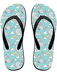 BYDGXGXD Unicornio Narwhal Fashion Classic Flip Flops - Sandalias de goma para playa para mujeres y