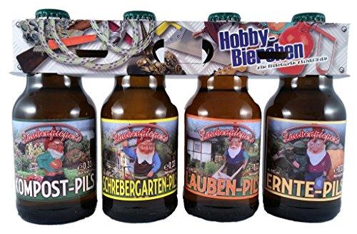 Garten Bier im witzigen Hobby Motiv 4er Träger