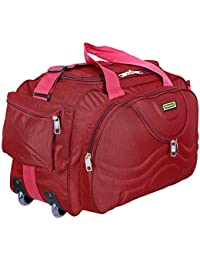Nice Line Maroon Polyester 40 litres Inch Travel Duffle Bag Trolley Bag Cabin  Luggage 09f7cf61821e8
