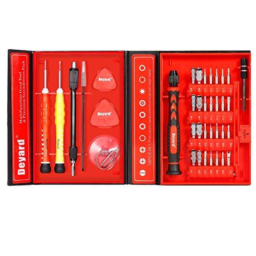 Deyard SG-455 Präzisions-Schraubendreher-Set - Repair Tools Kit zur Befestigung des iPhone-Notebooks MacBook Xbox-Uhrengläser mit Etui -