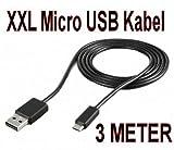 Energmix® XXL- Ladekabel für Playstation 4 Controller zum Aufladen der Joysticks extra Lang