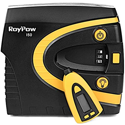 Roypow I50 12V Digital Tire Inflator Car Air Compressor, 3 Minute High Speed, Removable Tire Gauge & Tire Pressure Preset