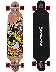 Gemgo WIN.MAX 004 Skateboard planche ¨¤ roulettes longboards avec ABEC-11 roulements en acier chrom¨¦